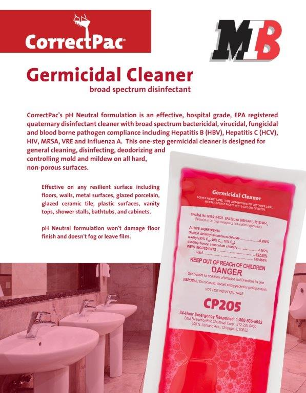 Germicidal Disinfectant Flyer
