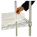 Shelf Liners For Wire Shelving, Clear Plastic, 36w x 24d, 4/Pack