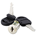 Core Removable Lock and Key Set, Silver, Two Keys/Set