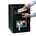 Digital Depository Safe, Large, 0.94 ft3, 14w x 15 3/5d x 20h, Black
