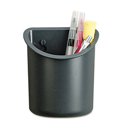 Recycled Plastic Cubicle Pencil Cup, 4 1/4 X 2 1/2 X 5, Charcoal