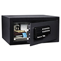 Electronic Security Safe, 0.41 ft3, 11 2/5w x 10 2/5d x 7 3/5h, Black
