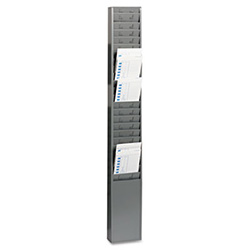 "Steel Time Card Rack with Fixed 4-1/2"" x 5"" Pockets"
