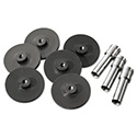 Replacement Head Punch Set, Three Heads/Five Discs, 9/32 Diameter Hole, Gray