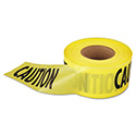 """Caution"" Barricade Tape, 3"" x 1,000 ft., Yellow/Black"