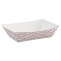 Paper Food Baskets, 6 oz Capacity, Red/White, 1000/Carton