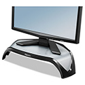Smart Suites Corner Monitor Riser, 18 1/2 x 12 1/2 x 5 1/8, Black/Clear Frost