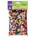 Pony Beads, Plastic, 6mm x 9mm, Assorted Colors, 1000 Beads/Pack