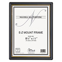 EZ Mount Document Frame with Trim Accent, Plastic, 8-1/2 x 11, Black/Gold