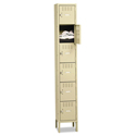Box Compartments with Legs, Single Stack, 12w x 18d x 78h, Sand