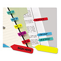 Mini Arrow Page Flags, Blue/mint/purple/red/yellow, 154 Flags/pack