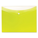 Poly Snap Envelope, Snap Closure, 8.5 x 11, Limeade