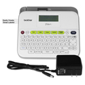 PT-D400AD Versatile Label Maker with AC Adapter, White