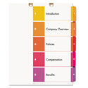Preprinted Tab Dividers For Classification Folders, 5-Tab, Letter