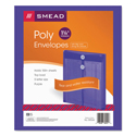 Poly String & Button Envelope, 9 3/4 X 11 5/8 X 1 1/4, Purple, 5/pack