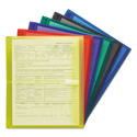 "Poly Side-Load Envelopes, 1 1/4"" Exp, Letter, Six Colors, 6/pack"