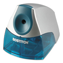 "Personal Electric Pencil Sharpener, AC-Powered, 4.25"" x 8.4"" x 4"", Blue"