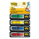 "Arrow 1/2"" Page Flags, Assorted Primary, 24/Color, 96-Flags/Pack"