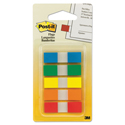 Page Flags in Portable Dispenser, Assorted Primary, 20 Flags/Color