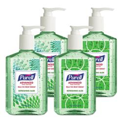 Advanced Instant Hand Sanitizer With Aloe, 8 Oz Bottle, 4/pack