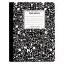 Composition Book, Wide/Legal Rule, Black Marble Cover, 9.75 x 7.5, 100 Pages