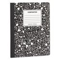 Composition Book, Medium/College Rule, Black Marble Cover, 9.75 x 7.5, 100 Pages