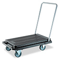 Heavy-Duty Platform Cart, 500 lb Capacity, 21 x 32.5 x 37.5, Black