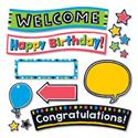 "Bold Strokes Wipe-Off Celebration Signs Bulletin Board Set, 18 1/4"" x 31"""