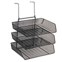 Mesh Partition Additions Three-Tray Organizer, 11 1/8 x 14 x 14 3/4, Black