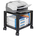 Mobile Printer Stand, Two-Shelf, 17w x 13 1/4d x 14 1/8h, Black