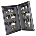 Security Key Cabinets, 30-Key, Steel, Charcoal Gray, 8 1/2 x 2 3/8 x 11 5/8