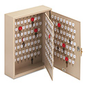 Locking Two-Tag Cabinet, 240-Key, Welded Steel, Sand, 16 1/2 x 4 7/8 x 20 1/8