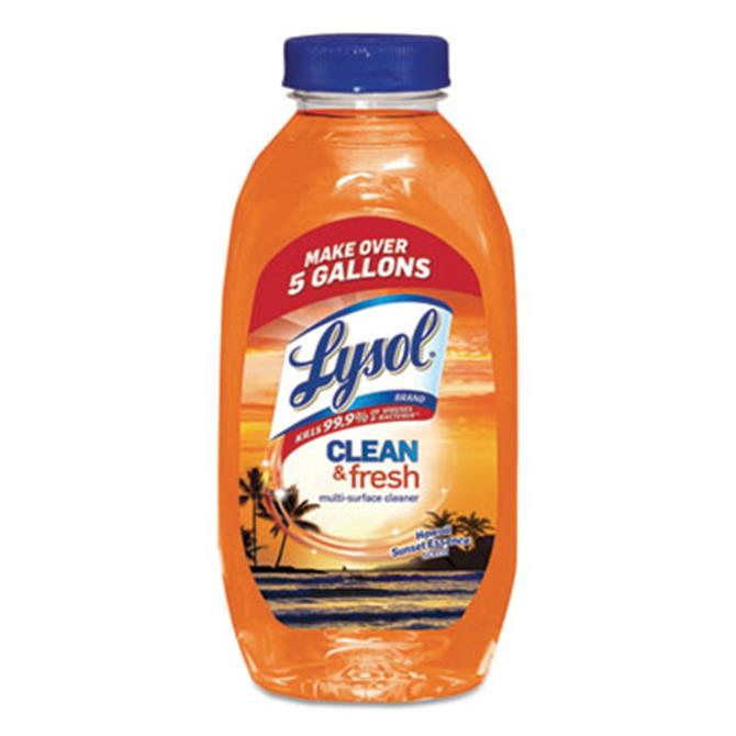 Clean and Fresh Multi-Surface Cleaner, Hawaii Sunset Essence, 10.75 oz Bottle, 20/Carton