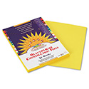 Construction Paper, 58lb, 9 x 12, Yellow, 50/Pack
