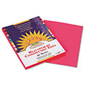 Construction Paper, 58lb, 9 x 12, Hot Pink, 50/Pack