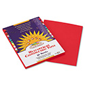 Construction Paper, 58lb, 9 x 12, Holiday Red, 50/Pack