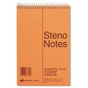 Standard Spiral Steno Book, Gregg Rule, 6 x 9, Green, 60 Sheets