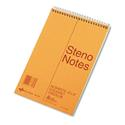 Standard Spiral Steno Book, Gregg Rule, 6 x 9, Eye-Ease Green, 80 Sheets