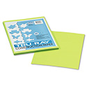 Tru-Ray Construction Paper, 76lb, 9 x 12, Brilliant Lime, 50/Pack