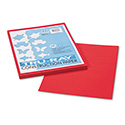 Tru-Ray Construction Paper, 76lb, 9 x 12, Festive Red, 50/Pack