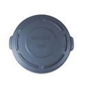 "Flat Top Lid For 20-Gallon Round Brute Containers, 19 7/8"" Dia., Gray"