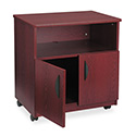 Laminate Machine Stand w/Open Compartment, 28w x 19-3/4d x 30-1/2h, Mahogany