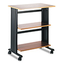 Muv Mobile Machine Cart, Three-Shelf, 29-1/2w X 20d X 35h, Cherry/black