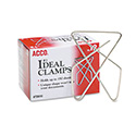 Ideal Clamps, Large (No. 1), Silver, 12/Box
