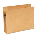 "Recycled 3 1/2"" Expansion File Pocket, Straight Cut, Letter, Kraft"