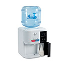 "Tabletop Thermoelectric Water Cooler, 13 1/4"" dia. x 15 3/4h, White"