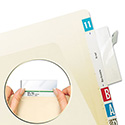 Self-Adhesive Label/File Folder Protector, Top Tab, 3 1/2 x 2, Clear, 500/Box
