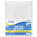 Filler Paper, 15lb, College Rule, 11 x 8 1/2, White, 200 Sheets