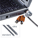 Microsaver Keyed Ultra Laptop Lock, 6ft Steel Cable, Two Keys