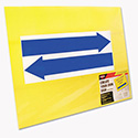 Stake Sign, Blank, Yellow, Includes Directional Arrows, 15 x 19